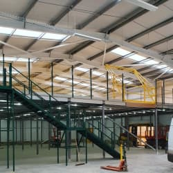 Single Level Mezzanine Floor, Staircases And Pallet Gate Installation